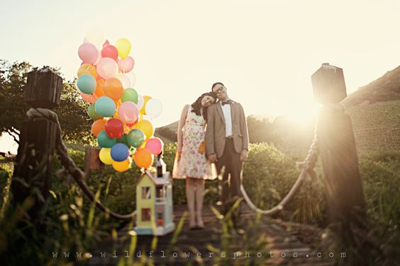 """""""An 'UP!' inspired engagement shoot"""", part 1, by Wildflowers Photography... I absolute adore these pictures..."""