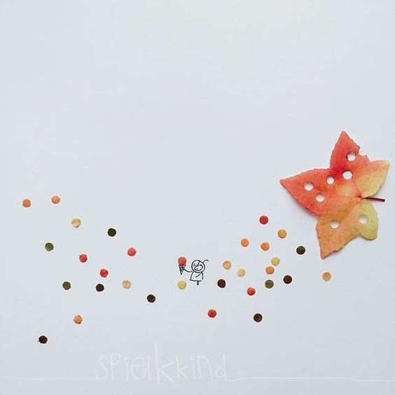 autumn confetti. #and_draw_something #spielkkind