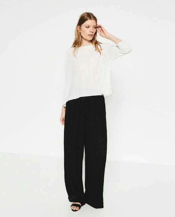 Basicos pantalon negro con blusa blanca!