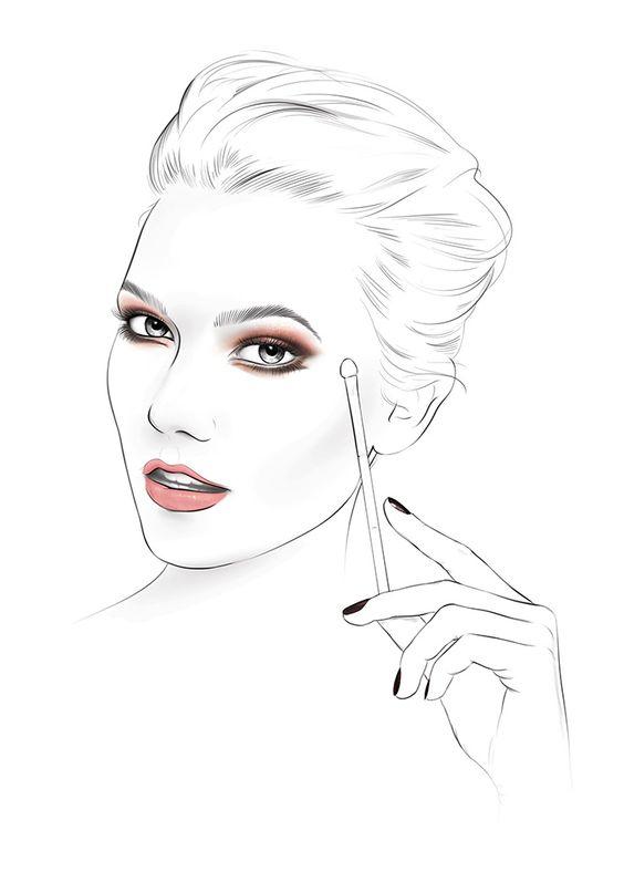 Face Chart #facechart #facewoman #Loreal #cosmetics #beauty #makeup #girl #Karlie Kloss prepared for L'Oréal Paris