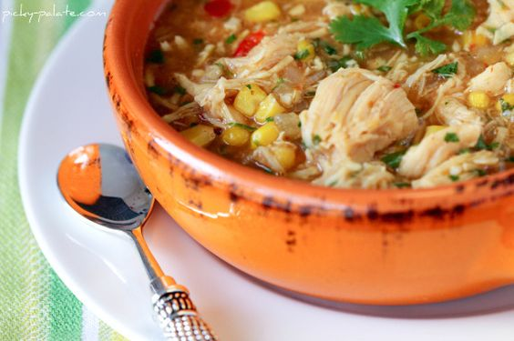 BBQ chicken soup