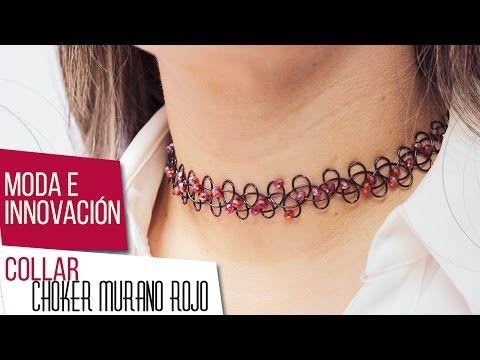 Como hacer collar choker con murano rojo Kit 26641 | VARIEDADES CAROL - YouTube