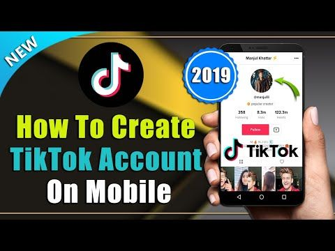 How To Create Tik Tok Account In Android Mobile Iphone 2019 Youtube Iphone Android Accounting