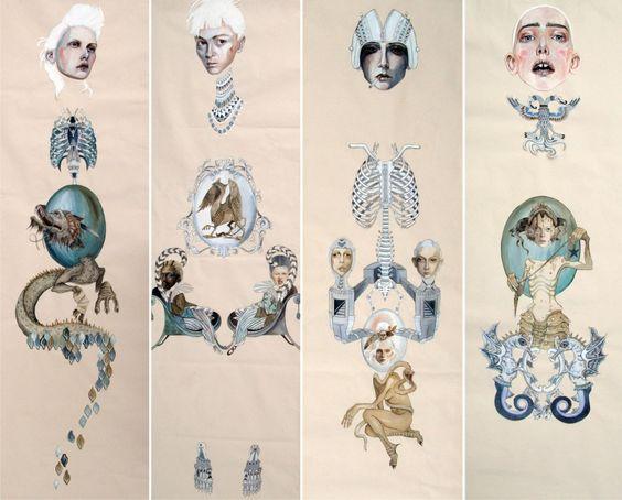 Work by Anne Sofie Madsen #illustration #anatomy #organic