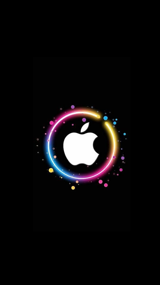 Neon Ring Apple Apple Wallpaper Iphone Apple Logo Wallpaper Iphone Apple Wallpaper