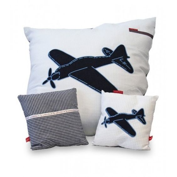 Jongenskamer Little Tulip loungekussen  - Plane 80 x 80