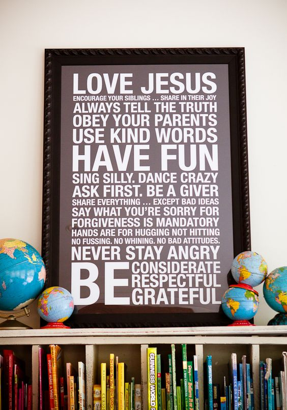Family Rules- love this