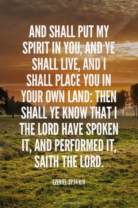 Ezekiel 37:14