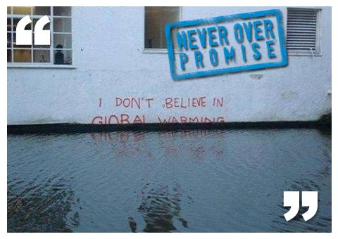 #global #warming is not a problem... #neveroverpromise