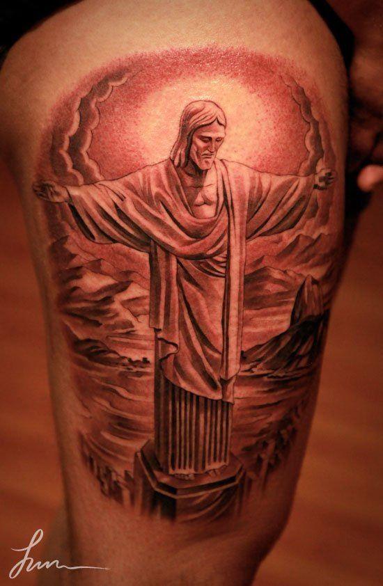 Jesus tattoo amazing artwork by jun cha pinterest for Tattoo of jesus