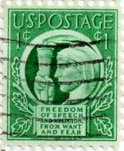 When was postage 1 cent?