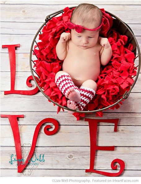 Baby L-O-V-E - Easy DIY Photo Props for Valentine's Day - Compiled by I Heart Faces Photography Blog: