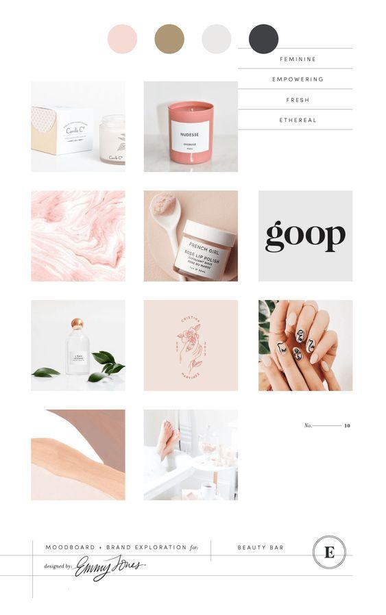 Beauty Bar Branding & Packaging // Branding Design, Beauty Branding, Beauty Moodboard, Pink Moodboard.