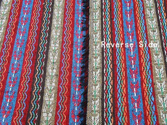 Boho Tribal Stoff handgewebten Stoff Aztec Stoff von TribalSpace