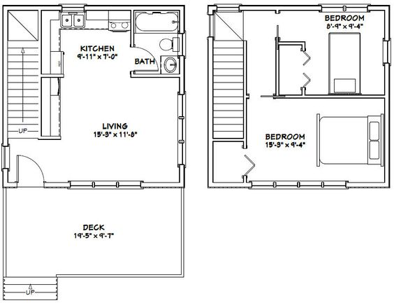 20x20 House Plans Garden Home Tiny House Ideas Pinterest