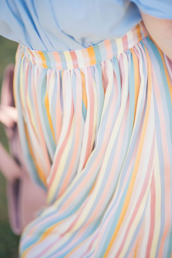 Pastel rainbow skirt by mint&berry now on thepetitecat.com!