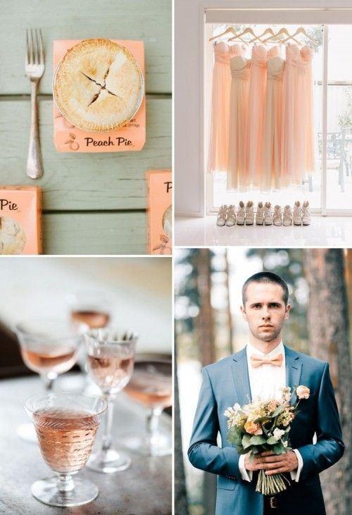 40 Delicate Peach And Cream Wedding Ideas | Weddingomania