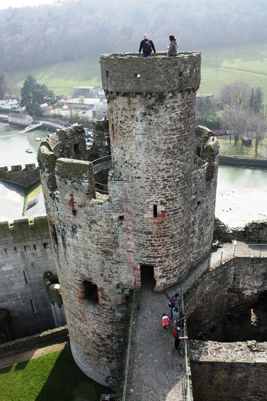 Conwy Turret - Conwy, Gwynedd, Wales. Built between 1283-1287 by Edward I while conquering Wales