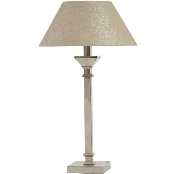 jcpenney - Brushed Chrome Steel Table Lamp - jcpenney