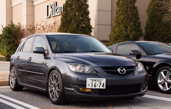 2009 Mazdaspeed3 Metropolitan gray mica Corksport license plate relocate Sparco assetto gara wheels