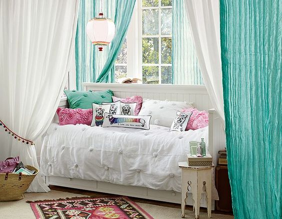 Day Bed, Cool Curtains And Pottery On Pinterest