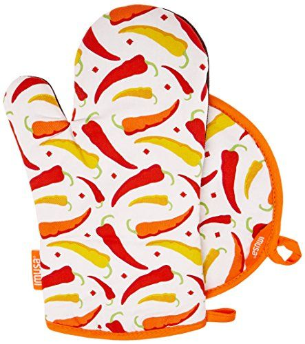 Kitchen Curtains chili pepper kitchen curtains : Chili Pepper Kitchen Oven Mitt + Pot Holder Set | All kinds of ...