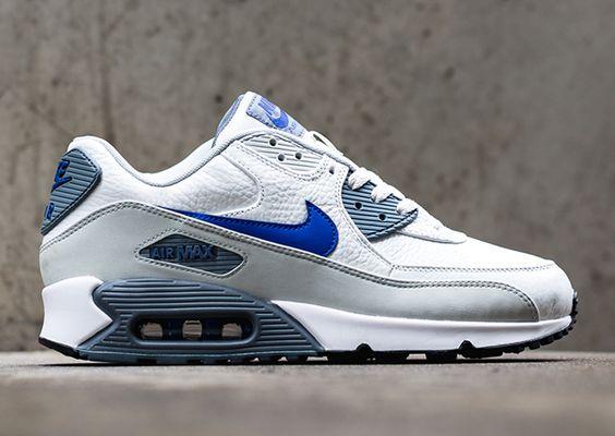 Nike Air Max 90 GS Schuhe photo blue-deep royal blue 37,5