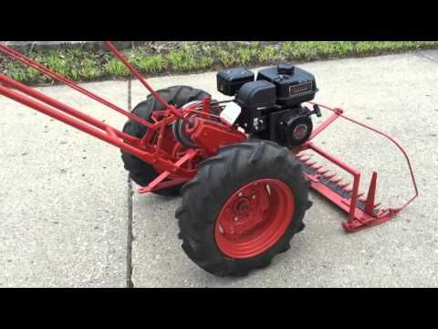 Human Powered 4 Wheel Sickle Bar Mower Experiment Youtube Garden Tractor Mayfield Garden Tractors
