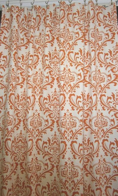 Pair of  curtain drapery panels LINED with poly by kirtamdesigns, $240.00