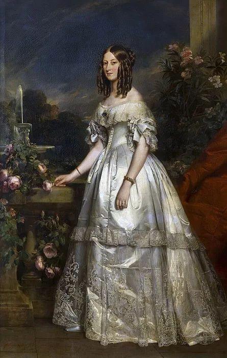 Franz Xaver Winterhalter: Victoire d'Orléans, duchesse de Nemours (1852):