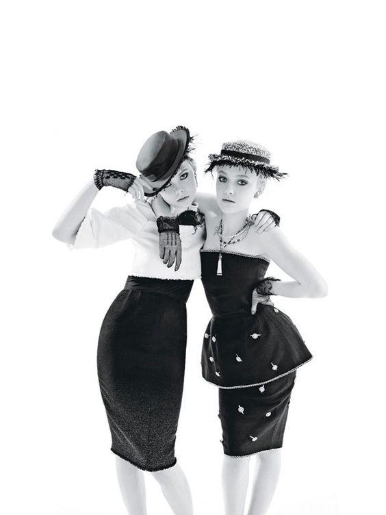 Dakota & Elle Fanning   Mario Sorrenti  #photography   W Magazine