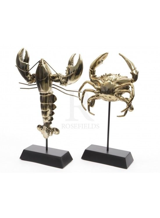 Gold Sea Animal On Stand Mix 29cm @ rosefields.co.uk