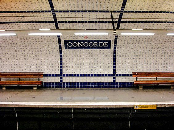 The Concorde station in Paris