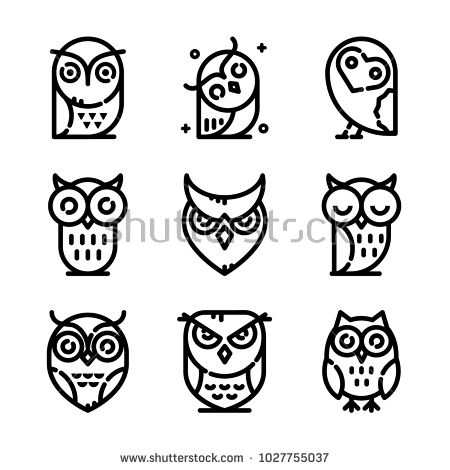 Owl Icon Set With Images Owl Tattoo Small Simple Owl Tattoo Tiny Owl Tattoo