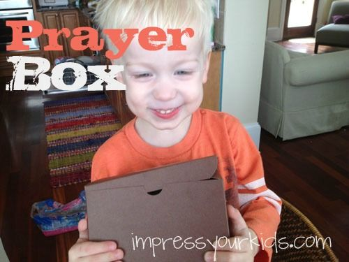 A great idea for teaching families how to pray together!