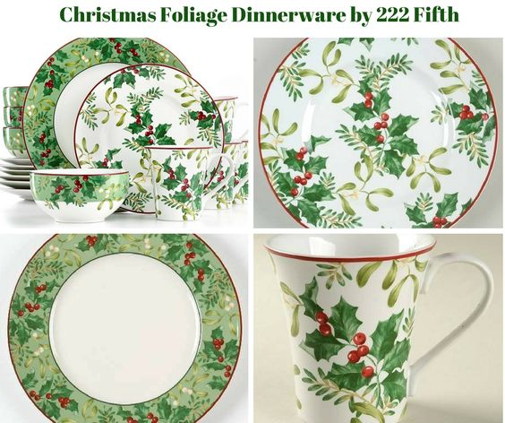 Christmas Foliage Dinnerware by 222 Fifth