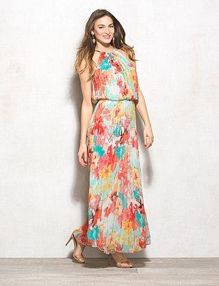 #Farbbberatung #Stilberatung #Farbenreich mit www.farben-reich.com, Long Pleated Floral Dress