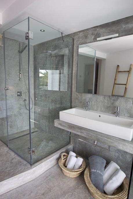 #concrete #bathroom inspirations - ottieni un risultato perfetto con le soluzioni Ideal Work. www.idealwork.it #masterbath