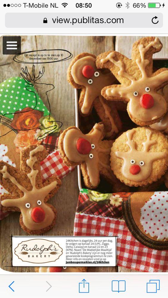 Rendier koekjes christmas snack van Rudolf's bakery/jumbo