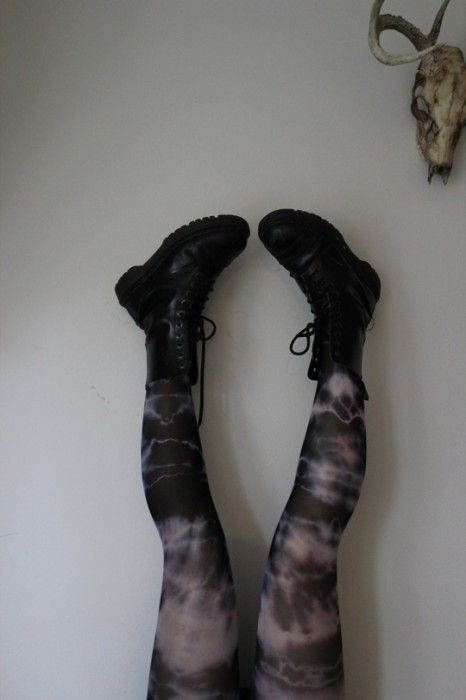 How To Use RIT Dye (Tie Dyed Tights)