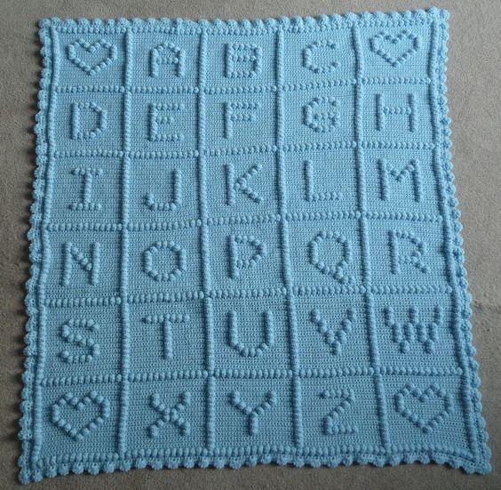 CrochetAllDay : PICTURE ABC #Crochet #Baby #Blanket DONE