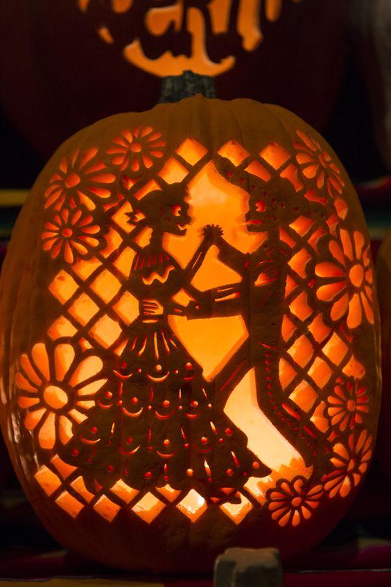 Gorgeous pumpkins at dia de los muertos