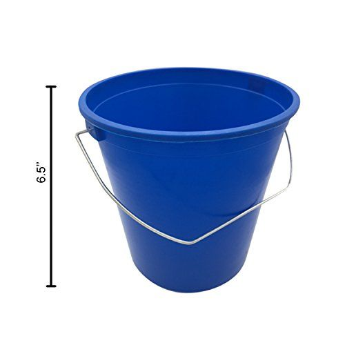 Argee Heavy Duty Plastic Bucket With Handle 2 1 2 Quart Plastic Buckets Bucket Heavy Duty