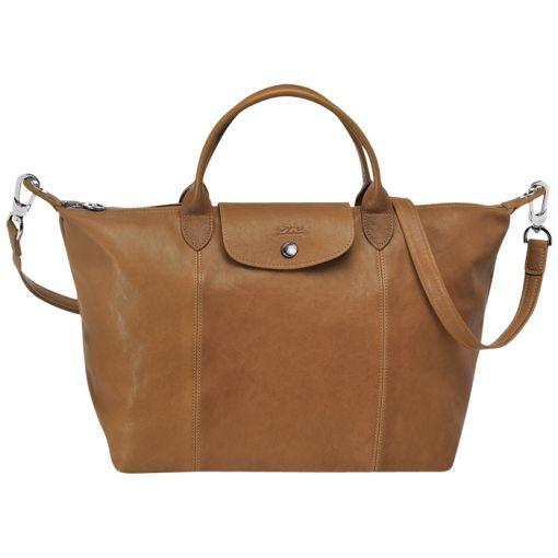 32 x 28 x 17 cm Handbag - LE PLIAGE CUIR - Handbags - Longchamp - Natural - Longchamp International