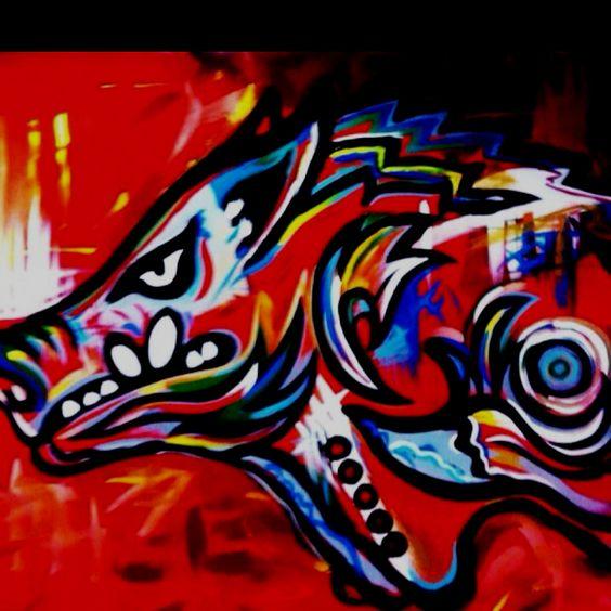 Razorback painting