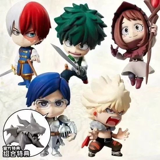 My Hero Academia Midoriya Izuku Todoroki Shouto 5PCS Action Figure Toy For Kids