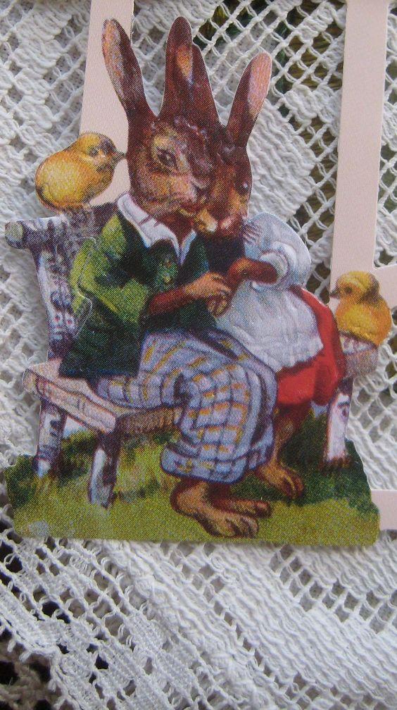 vintage love bunnies...