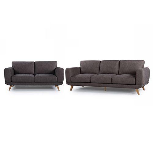 Vienna Dark Grey Corner Sofa Sofa Cheap Sofa Sets Linen Sofa