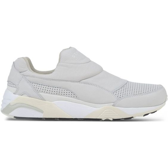 Stampd X Puma Low-Tops & Trainers ($100) ❤ liked on Polyvore featuring men's fashion, men's shoes, men's sneakers and light grey
