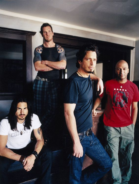 Audioslave. Brad Wilk, Tim Commerford, Chris Cornell  Tom Morello. I LOVE the sound these guys made!